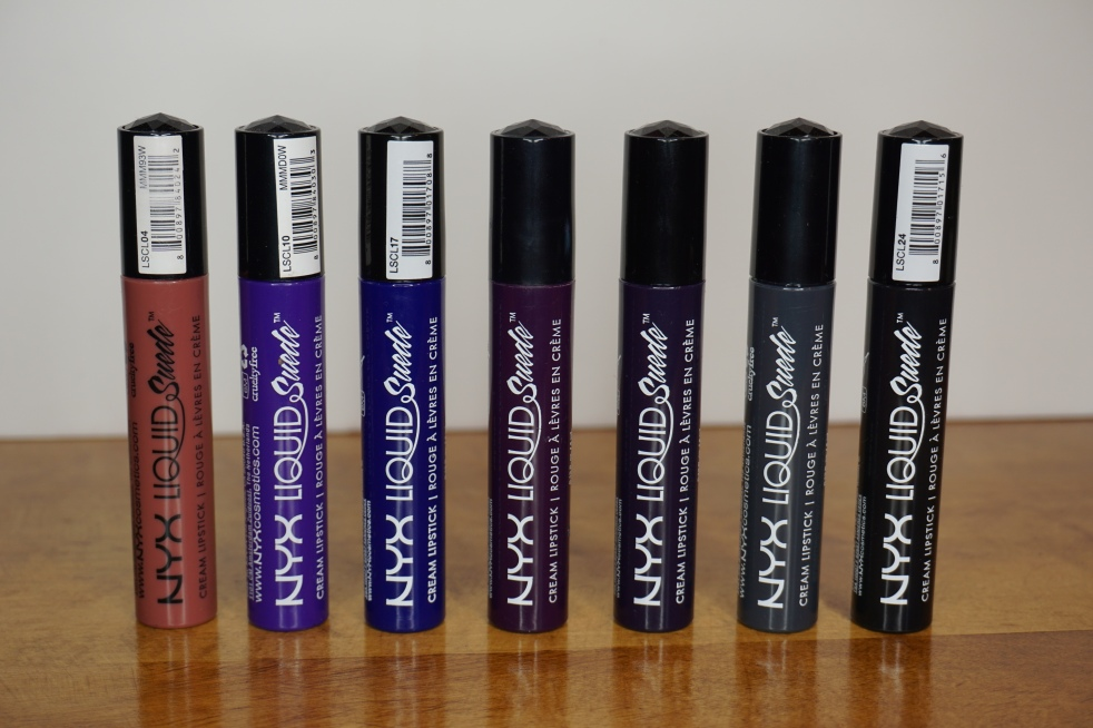 NYX Liquid Suede liquid lipsticks - review and swatches